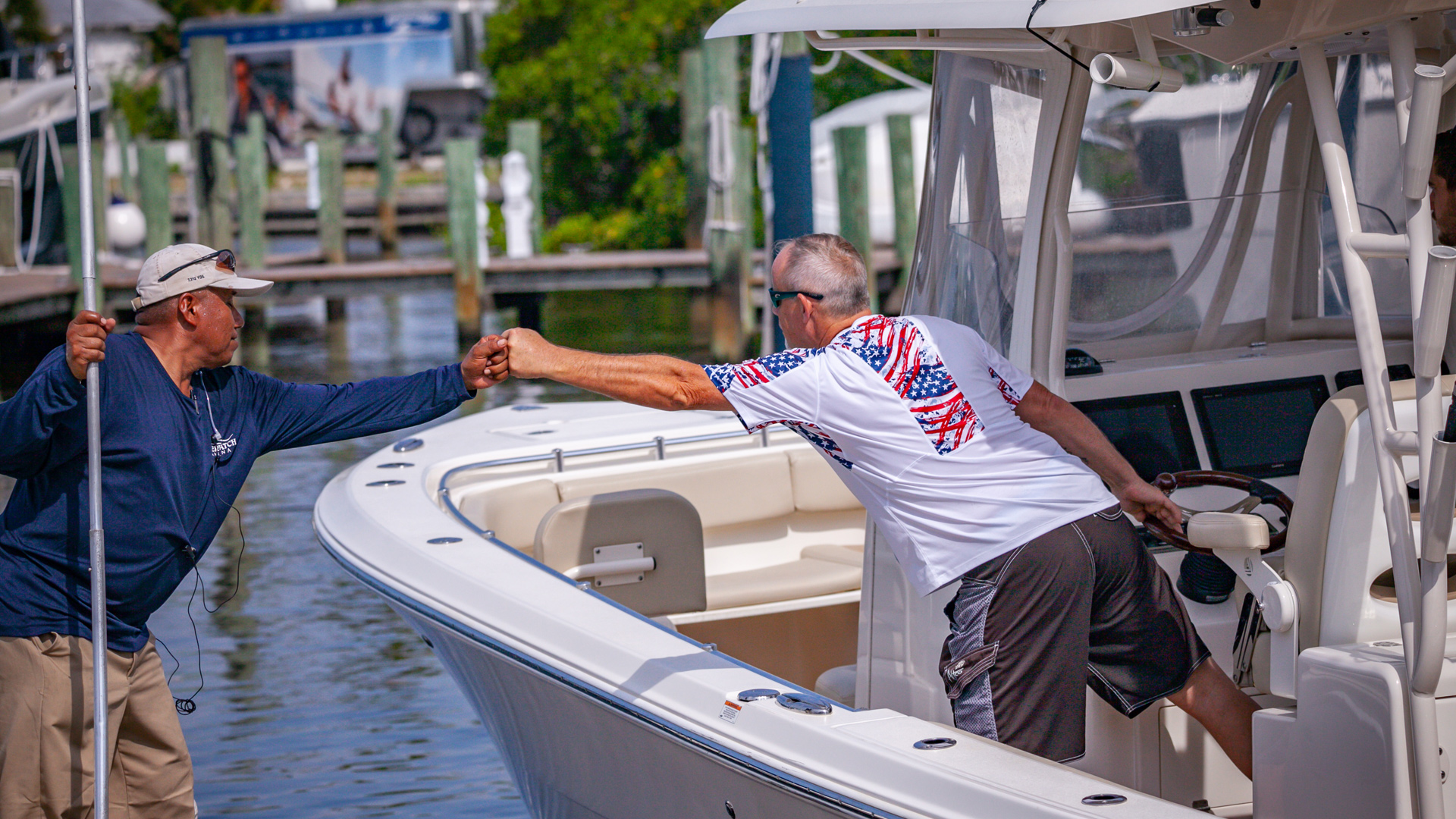 Riverwatch Marina Crew Member with Boater