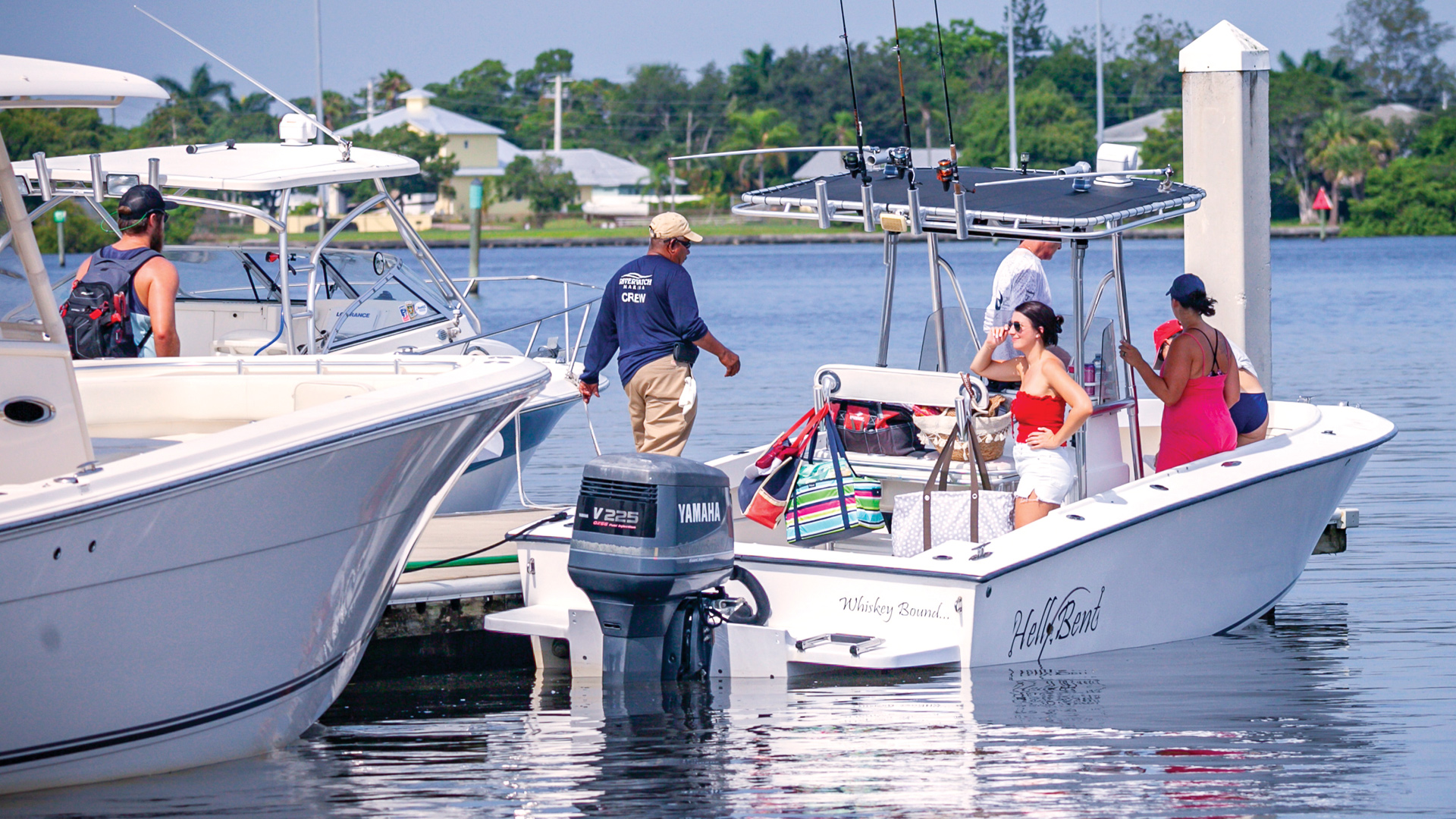 Riverwatch Marina Crew Member with Boaters